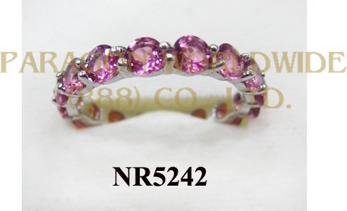 925 Sterling Silver Ring Pink Tourmarine - NR5242