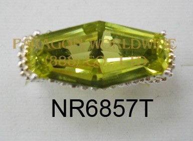 925 Sterling Silver & 14K Ring Lemon Quartz - NR6857T