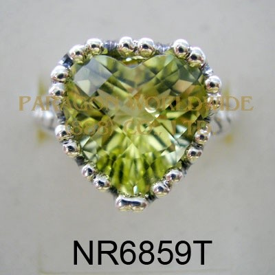 925 Sterling Silver & 14K Ring Lemon Quartz - NR6859T