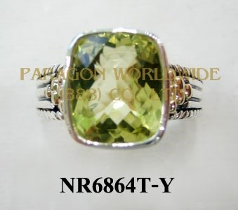 925 Sterling Silver & 14K Ring Green Gold - NR6864T