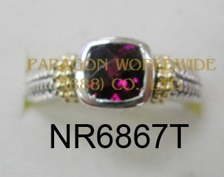 925 Sterling Silver &14K Ring Rhodolite - NR6867T