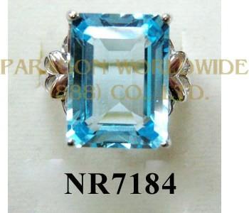 925 Sterling Silver Ring Sky Blue Topaz- NR7184