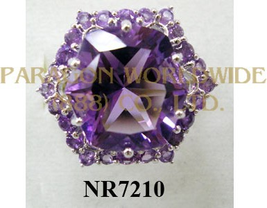 925 Sterling Silver Ring Amethyst - NR7210