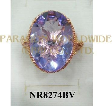 925 Sterling Silver Ring Pink Amethyst - NR8274BV