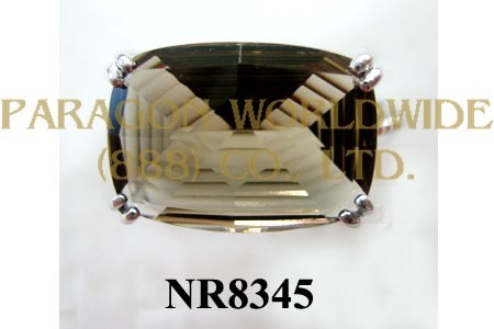 925 Sterling Silver Ring Smoky Quartz - NR8345