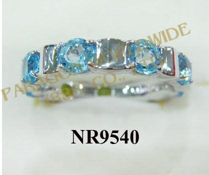 925 Sterling Silver Ring Light Swiss Blue Topaz  - NR9540