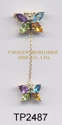 10K Yellow Gold Pendant   Multi - TP2487