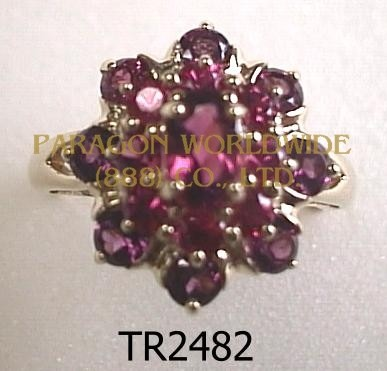 10K Yellow Gold Ring  Rhodolite - TR2482