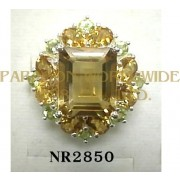 925 Sterling Silver Ring Citrine and Peridot - NR2850