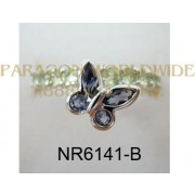 925 Sterling Silver Ring Iolite and Peridot  - NR6141-B