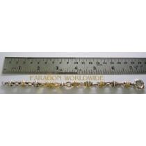 925 Sterling silver & 14K Bracelet  No Stone - NB1302T