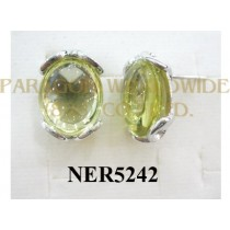 925 Sterling Silver Earrings Lemon Quartz- NER5242