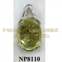 925 Sterling Silver Pendant Lemon Quartz - NP8110