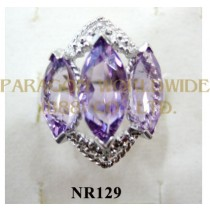 925 Sterling Silver Ring Amethyst - NR129