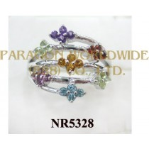 925 Sterling Silver Ring Multi Color - NR5328