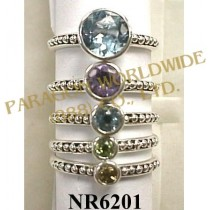 925 Sterling Silver Ring Multi Color - NR6201