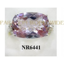 925 Sterling Silver Ring Pink Amethyst  - NR6441