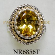 925 Sterling Silver & 14K Ring  Citrine - NR6856T
