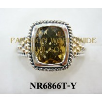 925 Sterling Silver &14K Ring Citrine - NR6866T