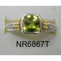 925 Sterling Silver &14K Ring Peridot - NR6867T