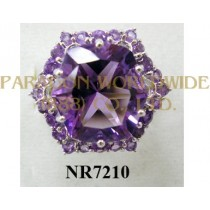 925 Sterling Silver Ring Amethyst - NR7210