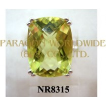 925 Sterling Silver Ring Lemon Quartz - NR8315