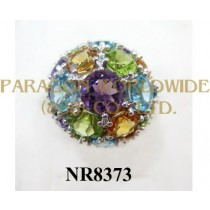 925 Sterling Silver Ring Multi Color NR8373