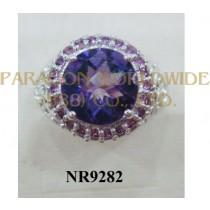 925 Sterling Silver Ring Amethyst and Rhodolite - NR9282