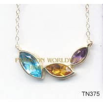 10K Yellow Gold Necklace Multi - TN375