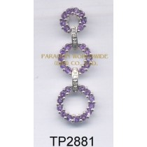 10K White Gold Pendant  Amethyst and White Diamond  - TP2881