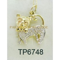 10K Yellow Gold Pendant  White Diamond - TP6748