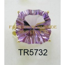 10K Yellow Gold Ring  Amethyst - TR5732