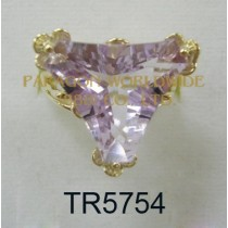 10K Yellow Gold Ring Pink Amethyst  - TR5754