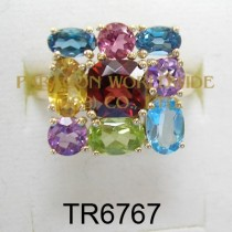 10K Yellow Gold Ring  Multi - TR6767